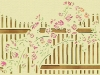 Floral Fence Papercut  (Original)